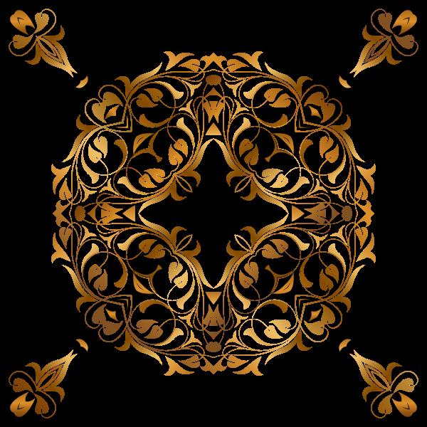Golden floral design