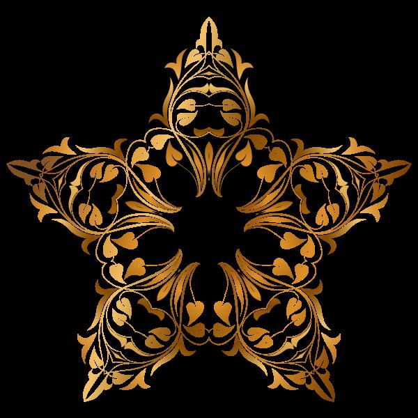 Shiny floral star decoration