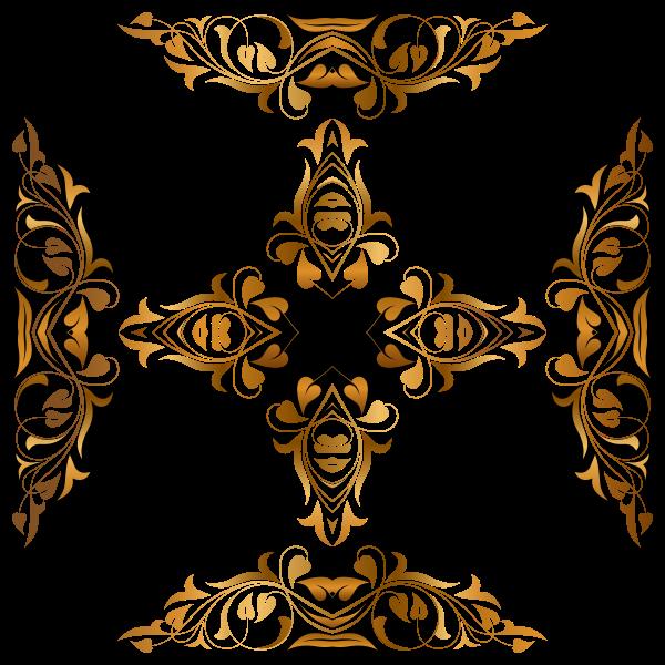 Floral golden crucifix
