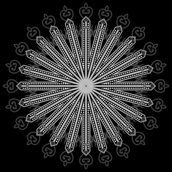Floral Flourish Design Interpolated 5