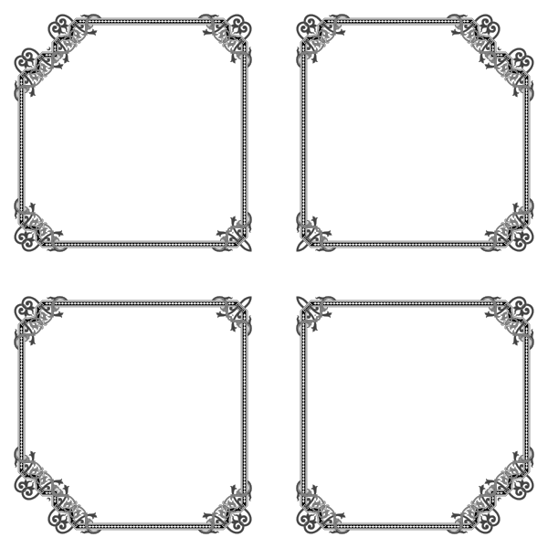 Floral Flourish Frame Interpolated 10