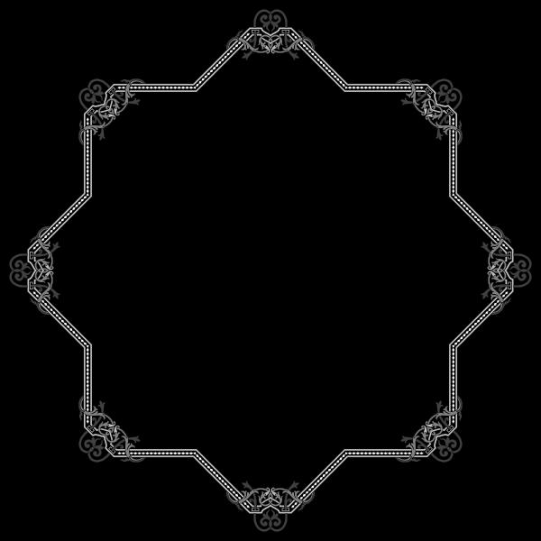 Floral Flourish Frame Interpolated 12