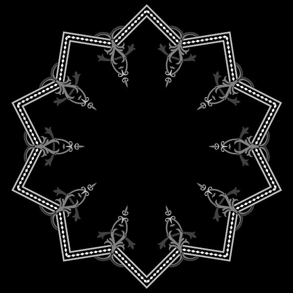 Floral Flourish Frame Interpolated 15