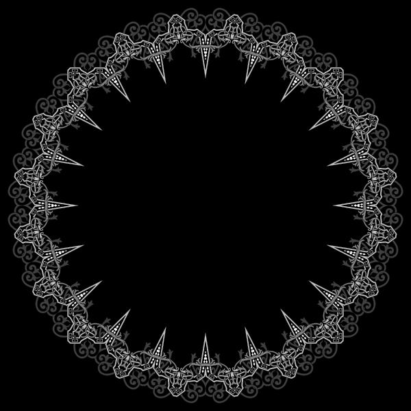 Floral Flourish Frame Interpolated 17