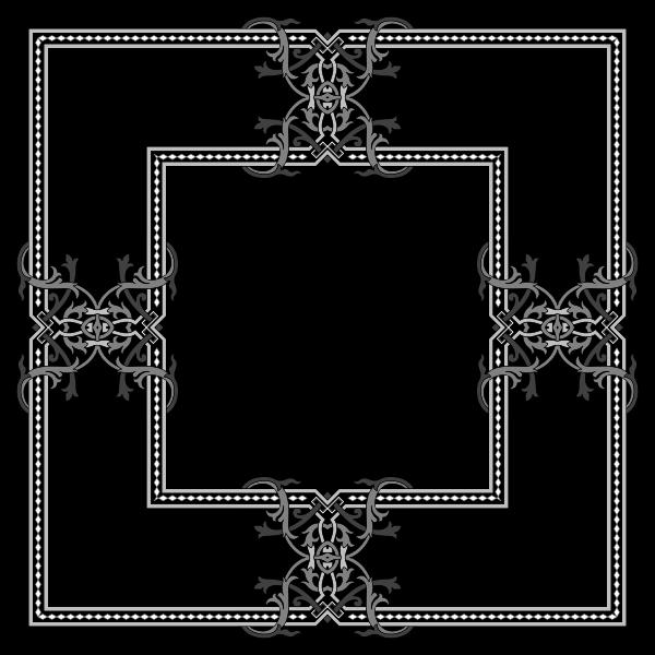 Floral Flourish Frame Interpolated 2