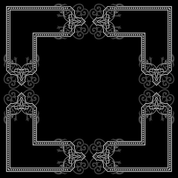 Floral Flourish Frame Interpolated 4