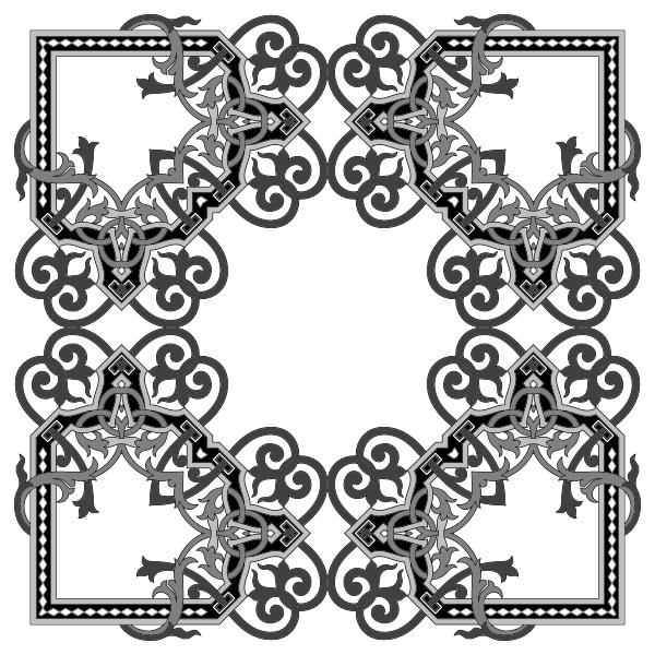 Floral Flourish Frame Interpolated 5
