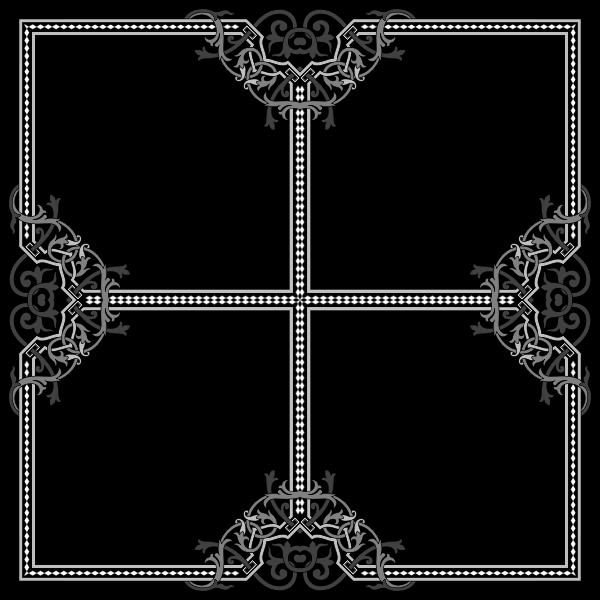 Floral Flourish Frame Interpolated 7