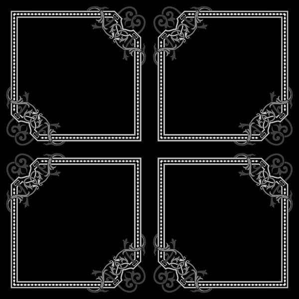 Floral Flourish Frame Interpolated 8
