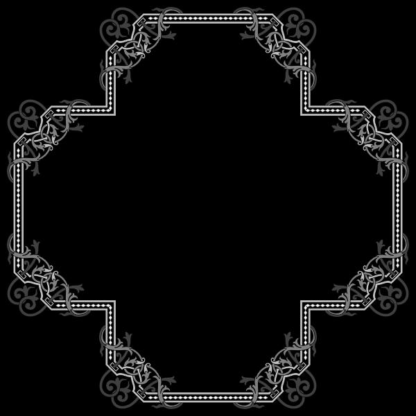 Floral Flourish Frame Interpolated 9