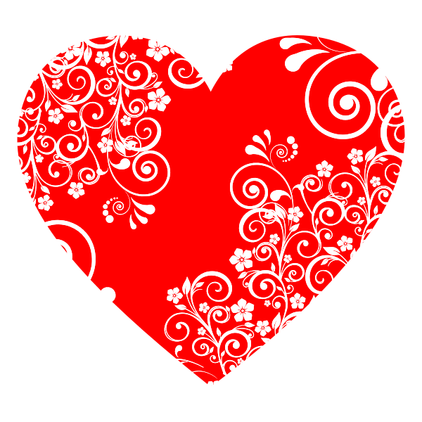Floral Flourish Heart 2