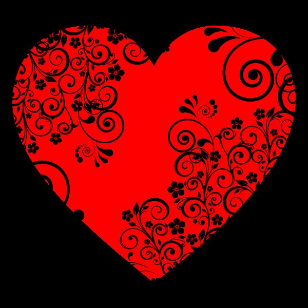 Floral Flourish Heart
