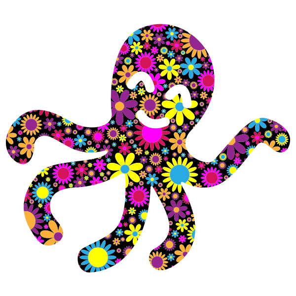 Floral octopus