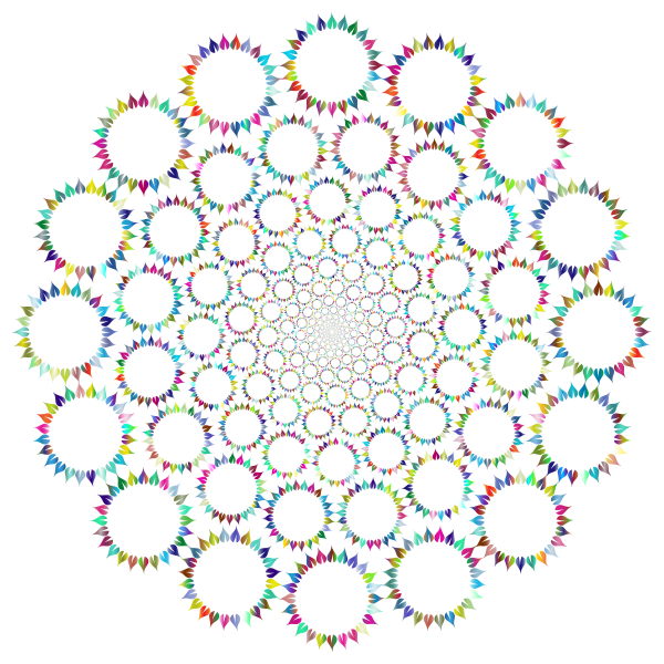 Floral leafy vortex vector image