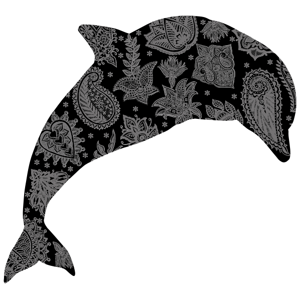 Floral Pattern Dolphin