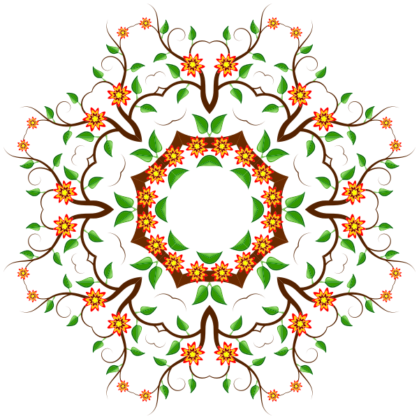 Vector drawing of decorative floral pattern