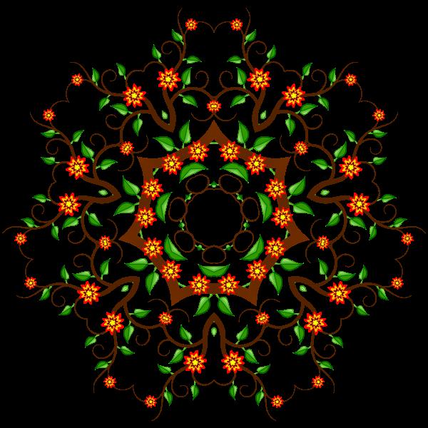 Colorful ornament vector clip art