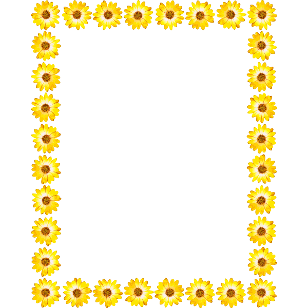 Floral Yellow Frame