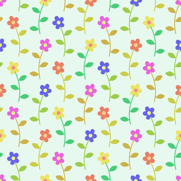 Floral pattern on white background vector image