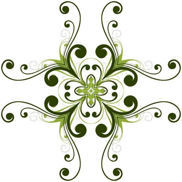 Image of floral design with four abstract petals.