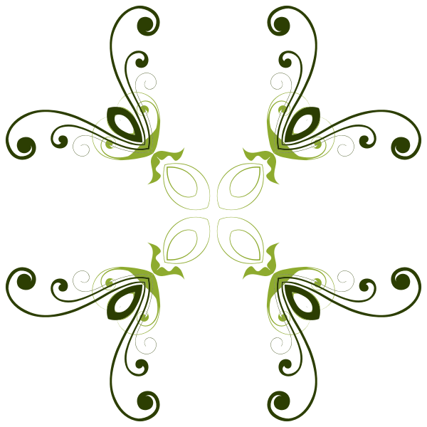 Green flower shape vector graphics
