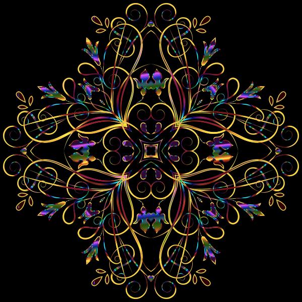 Flourishy Floral Design 11 Variation 2