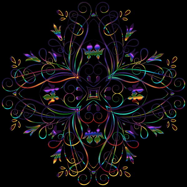 Flourishy Floral Design 11 Variation 3