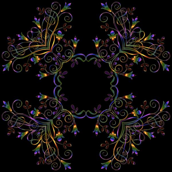 Flourishy Floral Design 12 Variation 1