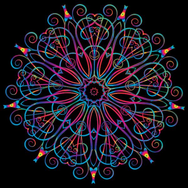 Flourishy Floral Design 16 Variation 1