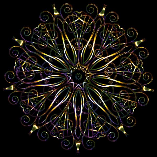 Flourishy Floral Design 16 Variation 2
