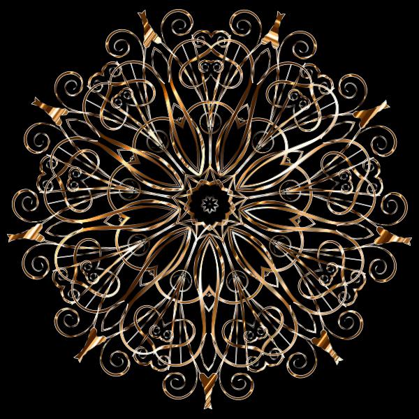 Flourishy Floral Design 16 Variation 3