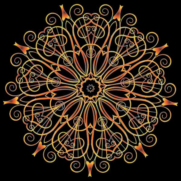 Flourishy Floral Design 16 Variation 4