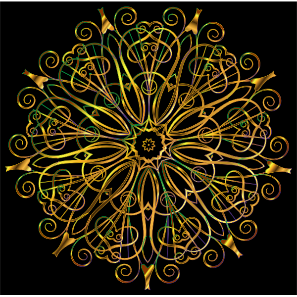 Flourishy Floral Design 16 Variation 5