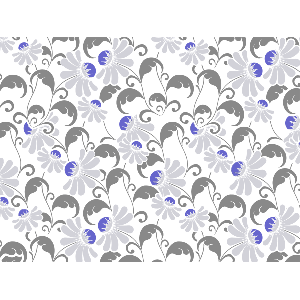 Flourishy Floral Pattern Background No Background