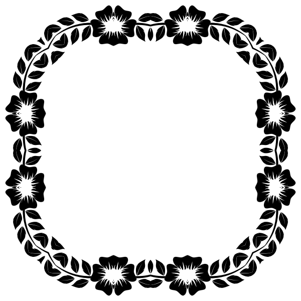 Flower Frame Extrapolated Square Shape