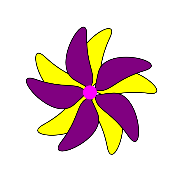 Flower - Purple and Yellow