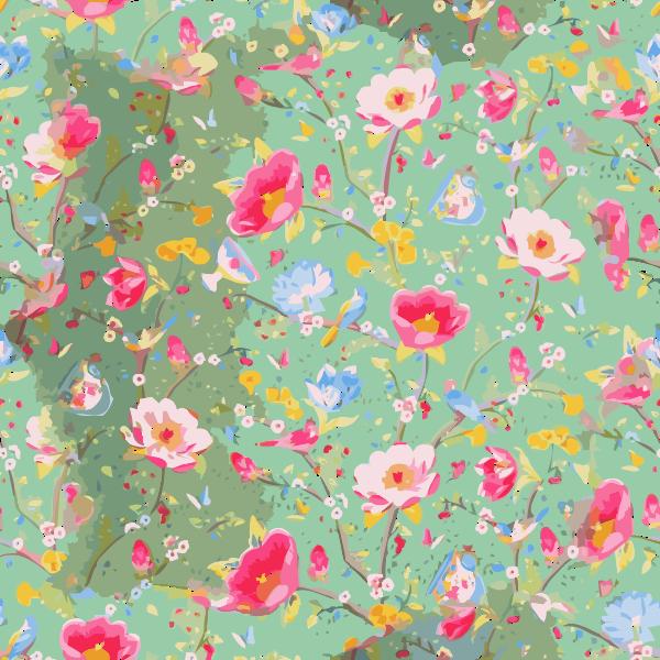 Flower Wall Dimsun Pattern