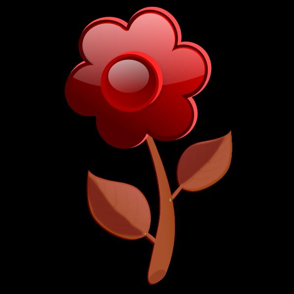 Gloss brown flower on stem vector image