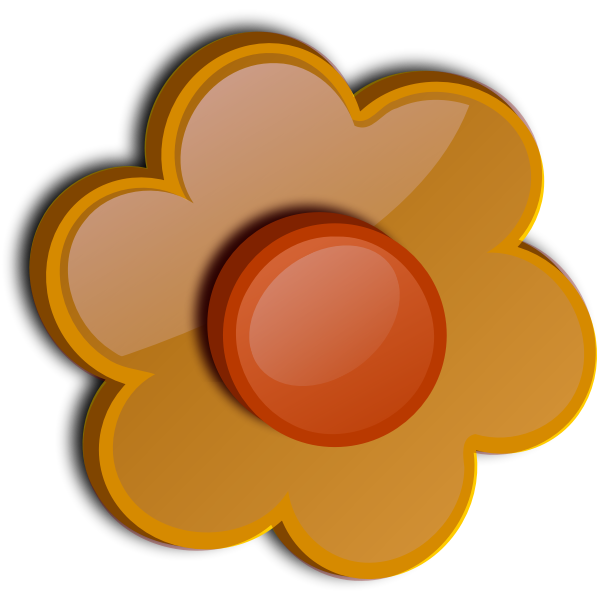 Gloss ocher flower vector image
