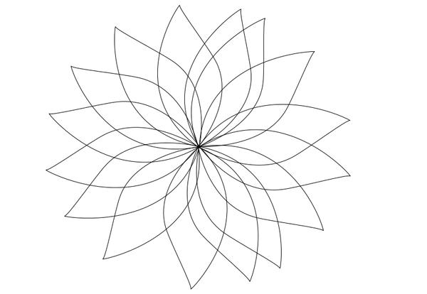 flower contour