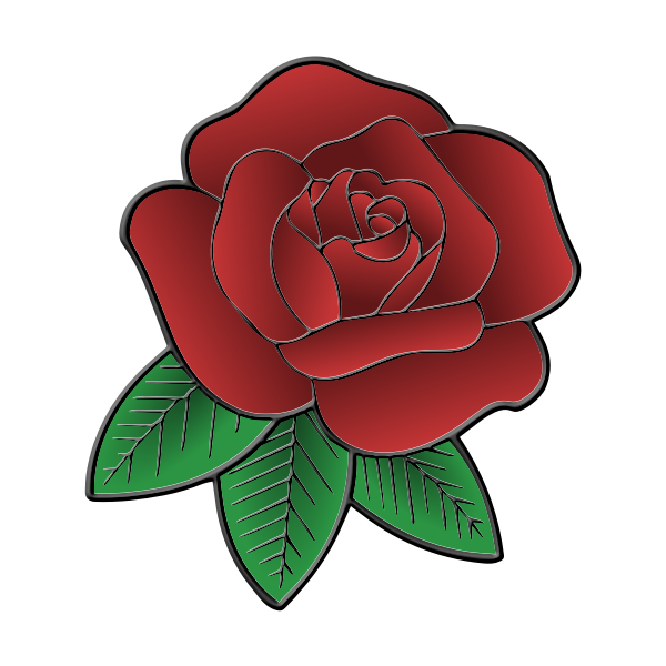 Simple vector illustration of a flower