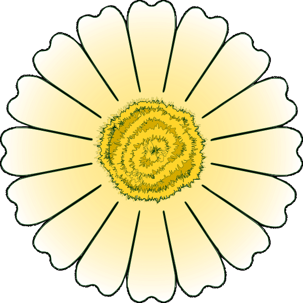 Vector clip art of daisy petals