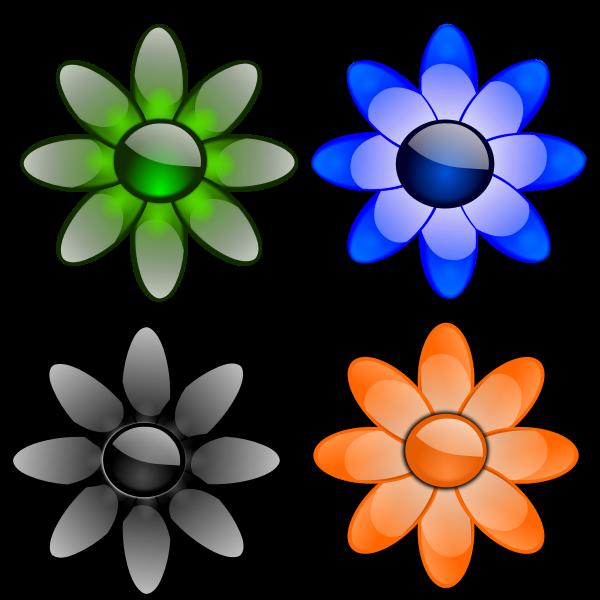 Glossy daisy petals vector image