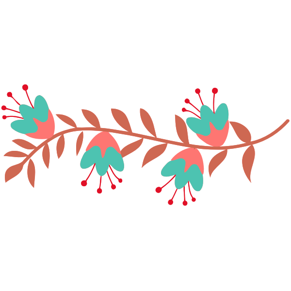 Flowery branch vector image
