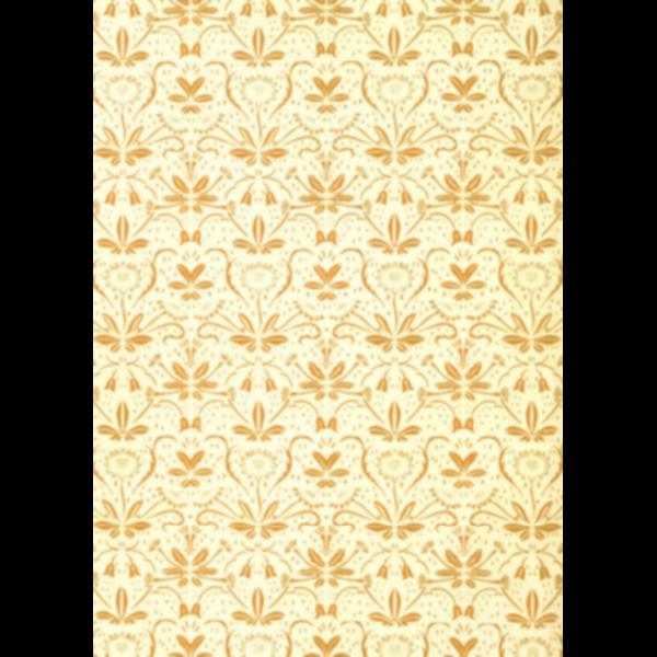 Flowery Pattern Yellow Background