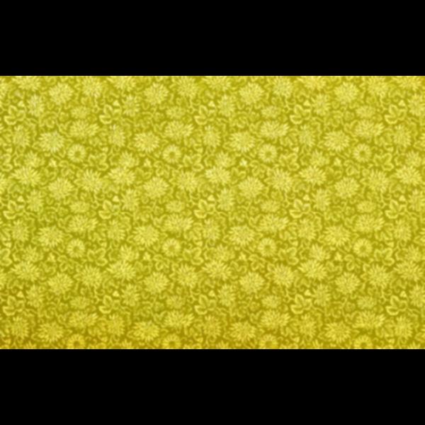 Yellow flowery pattern