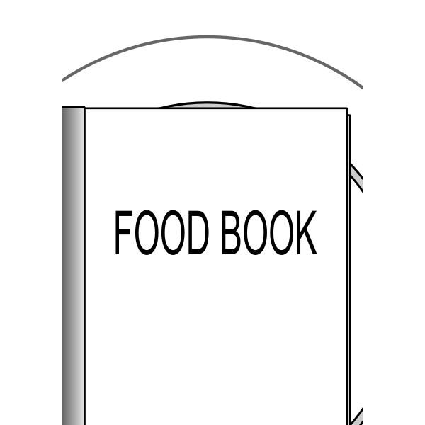 Vector illustration of food book on a plate