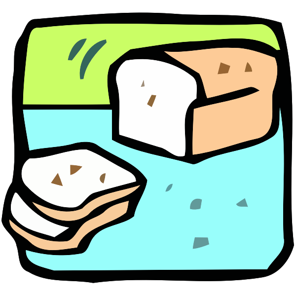 Cartoon bread