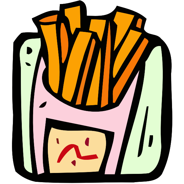 Colorful french fries
