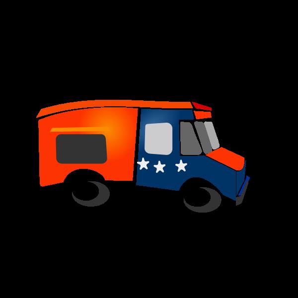 Food truck vector drawing